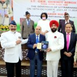 Governor of Uttarakhand felicitated and requested to induct ESM in Administration